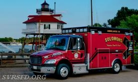 Ambulance 38 with Drum Point Lighthouse.